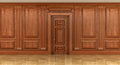 Fragment of the interior of classic wood panels Royalty Free Stock Photo