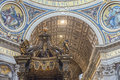 Fragment of interior of the Saint Peter's Basilica.Vatican. Rome. Royalty Free Stock Photo