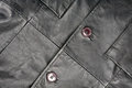 Fragment of leather jacket Stock Image