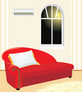 Fragment of living room. Evening Stock Image