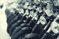 Fragment of a motorcycles Royalty Free Stock Photo