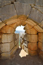 Fragment nimrod fortress medieval fortress northern israel Royalty Free Stock Photos