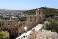 Fragment of Odeon of Herodes Atticus Stock Image