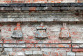 Fragment of old brickwork architecture gothic beginning the sixteenth century Stock Image
