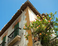 Fragment of the old house granada spain Royalty Free Stock Photo