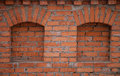 Fragment of the old red brick wall Royalty Free Stock Photo
