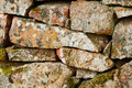 Fragment of old stone wall of church vintage Stock Photography