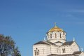 Fragment orthodox cathedral of st vladimir kherson sevastopol the the roof and facade Royalty Free Stock Photography