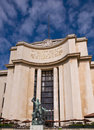 Fragment of the Palais de Chaillot. Paris. Stock Photo