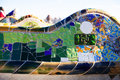 Fragment of park guel guell in barcelona Stock Photography