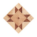 Fragment of parquet floor on white background clipping path Royalty Free Stock Images