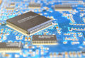 Fragment printed circuit board processor Royalty Free Stock Image