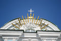 Fragment of st nicholas naval cathedral petersburg at sunny day russia Stock Photo