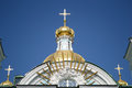 Fragment of st nicholas naval cathedral petersburg at sunny day russia Stock Image