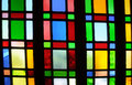 Fragment of Stained Glass Window Royalty Free Stock Photo