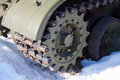 Fragment tank tracks driving gear Royalty Free Stock Image