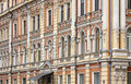 Fragment of traditional old building in odesa ukraine the center city Stock Photography