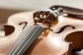 A fragment of a violin closeup Stock Photo