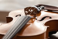 Fragment of a violin lying closeup Stock Photography