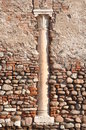 Fragment of the wall with column verona italy Stock Photography