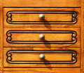 Fragment of  woodcarving furniture in retro style. Stock Photo