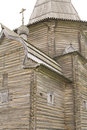 Fragment of wooden church Royalty Free Stock Photography