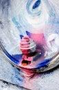 Fragmento colorido urbano de la pintada Imagen de archivo libre de regalías