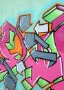 Fragmento de grafittis urbanos Imagens de Stock Royalty Free