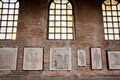 Fragments of Byzantine mosaics in Ravenna church Stock Photos