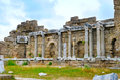 Fragments of columns (Side, Turkey) Royalty Free Stock Photo
