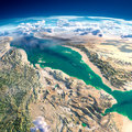 Fragments of the planet Earth. Red Sea Royalty Free Stock Photo