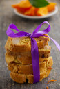 Fragrant biscotti with orange and macadamia nuts Royalty Free Stock Photos