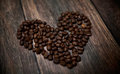 Fragrant coffee heart Stock Image