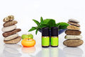 Fragrant oils feel comfortable with and natural cosmetics Stock Image