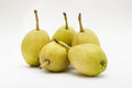 Fragrant pears on white background Stock Photography