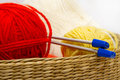 Frail of knitting tools Royalty Free Stock Images