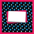 Frame with 3D cubes Royalty Free Stock Image
