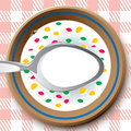 Frame as plate with cereal Royalty Free Stock Photo