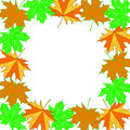 Frame of autumn leaves stock photo Stock Photography