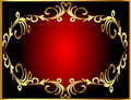 Frame background with gold(en) winding pattern Stock Photos