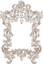 Frame baroque on white background Stock Photo
