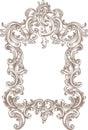 Frame Baroque Royalty Free Stock Photo