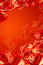 Frame of beautiful red roses Royalty Free Stock Photo
