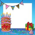 Frame with birthday theme 2 Royalty Free Stock Photos