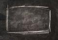 Frame on blackboard.