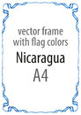 Frame and border of ribbon with the colors of the Nicaragua flag