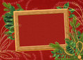 Frame with branches on the claret background Stock Images