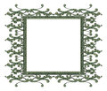 Frame built elements dollar bill Stock Image