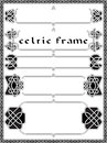 Frame in celtic style a vector an element of design Stock Image