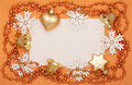 Frame of Christmas decorations Royalty Free Stock Photo